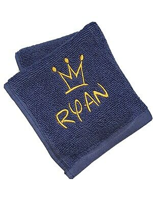 Personalised Face Cloth Towel Name Anniversary Gift Present Birthday 👑 Disney  • 3.49£