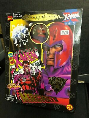 Boxed MARVEL Famous Covers X-MEN Magneto 8  Action Figure Doll Toy Biz 1999 • 24.99£