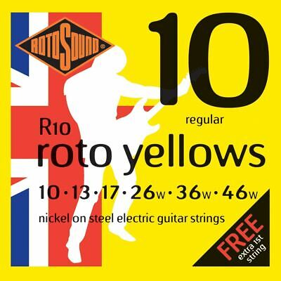 $ CDN8.92 • Buy Rotosound R10 Roto Yellows Regular 10-46 Electric Guitar Strings