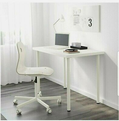 IKEA LINNMON COMPUTER TABLE COFFE TABLE PC LAPTOP DESK DINING TABLE WHITE 100x60 • 39.99£