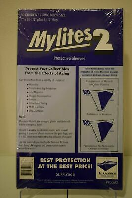$22.98 • Buy 50  Mylites2 E. Gerber Current Size Mylar Comic Book Bags  New