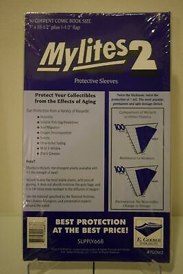 $43.69 • Buy 100 Mylites2 E. Gerber Current Size Mylar Comic Book Bags  New