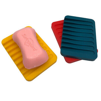 SILICONE SOAP DISH In10 Colours GOOD VALUE AND QUALITY UK SELLER  • 2.99£