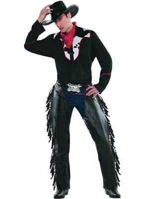 $16.67 • Buy Cowboy Fancy Dress Costume Adult Mens Outlaw Pete Outfit Western Bandana Chaps