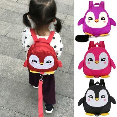 Toddler Kid Children Boy Girl 3D Cartoon Animal Backpack School Bag With Reins S • 7.24£