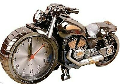 American Type Motorcycle, Alarm Clock Cool Metallic,Japan W/Tracking# • 35.34£