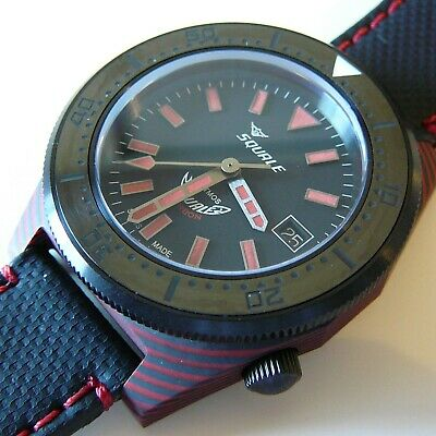 $ CDN1573.56 • Buy Watch Squale T-183 RED Carbon - 600 Meter - Swiss Automatic