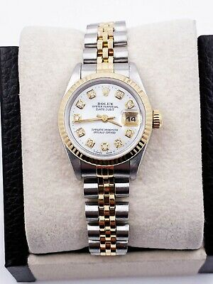 $ CDN6055.61 • Buy Rolex Ladies Datejust  69173 MOP Diamond Dial 18K Yellow Gold Stainless Steel