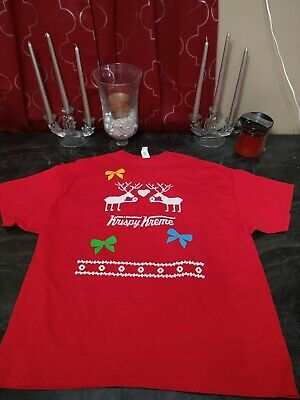 $12.49 • Buy Krispy Kreme Doughnuts Employee Work Christmas Ugly Sweater 2017 Shirt Size 3XL