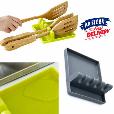 AU10.79 • Buy Colorful Tool Cooking Resistant Utensil Heat Holder Kitchen Silicone Spoon Rest