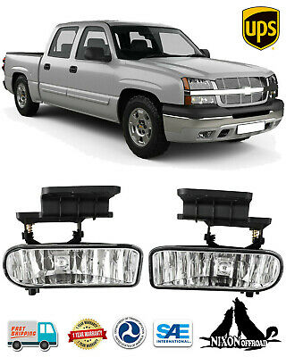 $25.59 • Buy Fog Lights Driving Bumper Lamps For 2000-06 Chevy Silverado Tahoe Suburban Clear