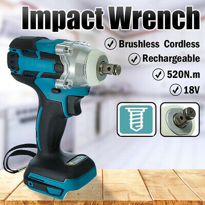 £29.99 • Buy 18V 520NM Torque Impact Wrench Brushless Cordless Nut Gun Replacement For Makita