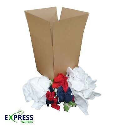 £24.99 • Buy BUILD A BOX - 5kg - Cleaning Rags Wipers Wiping Cloths SELECT YOUR MIX OF GRADES