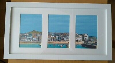 St Ives Limited Edition Triple Art Print, Cornwall, Sea, Boats, Harbour, Beach, • 29.99£