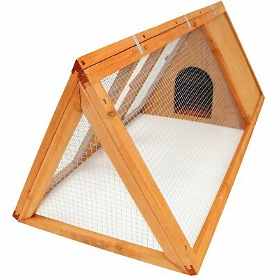 £39.99 • Buy NEW! Wooden Outdoor Triangle Rabbit Guinea Pig Pet Hutch Run Cage