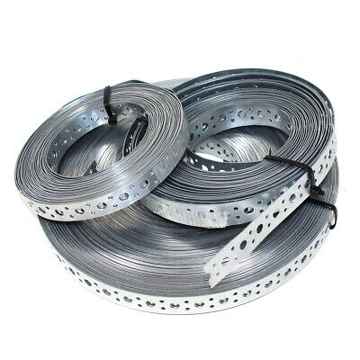 £12.99 • Buy 20mm 25mm STRAPPING FIXING BAND GALVANISED STEEL BANDING - 10 + 50 METRE COILS