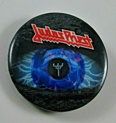 £5.99 • Buy JUDAS PRIEST ELECTRIC EYE VINTAGE METAL BUTTON BADGE FROM THE 1980's ROB HALFORD
