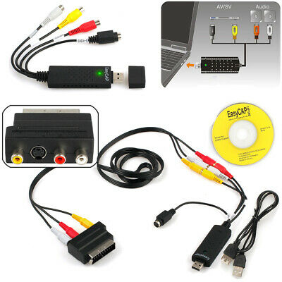 AU21.06 • Buy USB Audio VHS To DVD Converter Capture Recorder Analog Video To Digital