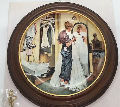 $ CDN9.44 • Buy Norman Rockwell  Her First Formal   Edwin M.Knowles Collectors Plate & Frame