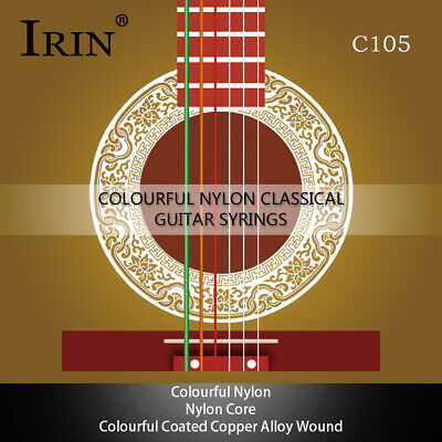 $ CDN7.90 • Buy IRIN C105 Colorful Rainbow Acoustic Classical Guitar Strings 6pcs/set(.028-.043)