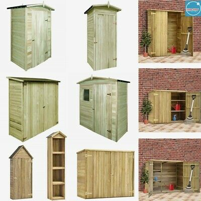 Wooden Garden Shed Large Outdoor Garage Tool Household Storage Cabinet Box House • 321.09£
