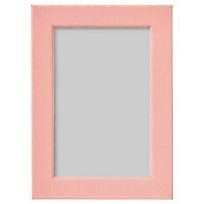 Ikea Fiskbo Small Photo Frame Pink Hanging Standing Wall Mount 10x15 Cm • 3.89£