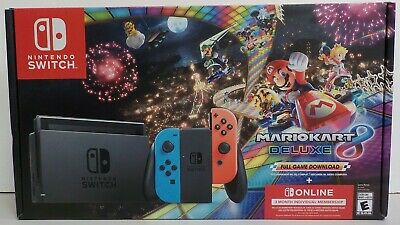 $ CDN490 • Buy Nintendo Switch Mario Kart 8 Deluxe Bundle With Red & Blue Controllers 32gb
