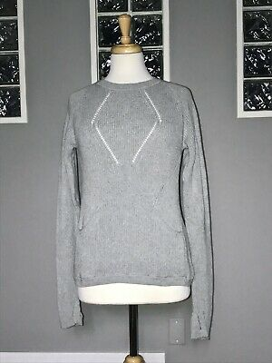$ CDN54.40 • Buy Lululemon The Sweater The Better 6 Heathered Gray Knit Long Sleeve Pullover