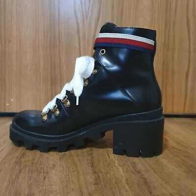 Used Women Leather Ankle Boots UK Size 5 GUCCI. Sylvie Web • 500£
