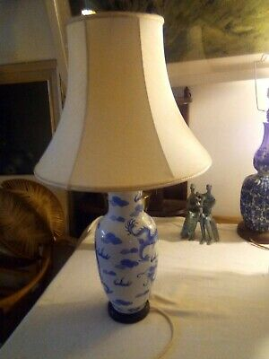 Vintage Table Lamp Chinese Dragons • 55£