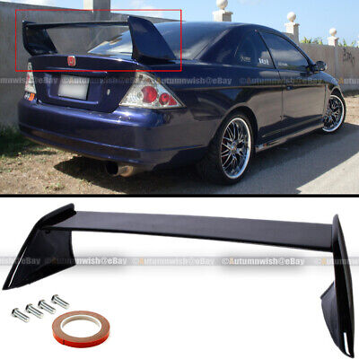 $129.99 • Buy For 01-05 Civic 2DR EVO Style Painted Glossy Black Rear High Wing Trunk Spoiler