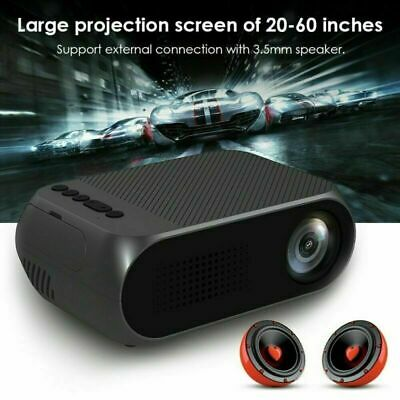 NEW LED 1080P HD 3D Home Cinema Projector 1000Lumens HDMI VGA USB LCD Cinema • 26.17£