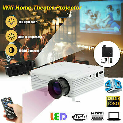UK Mini LED HD 1080p Home Cinema Projector LCD Video Home Theater HDMI USB SD • 23.79£