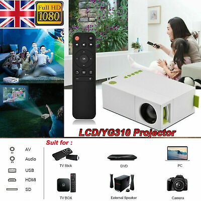 UK Video Projectors Portable Mini Home Theater LED Projector HDMI AV SD USB • 26.17£