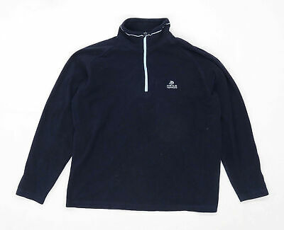 Craghoppers Womens Size 14 Blue Quarter Zip Fleece Jacket • 10£