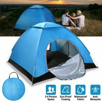 AU33.99 • Buy Family Tent 3-4 Person Man Camping Dome Tent Pop Up Hiking Beach Waterproof