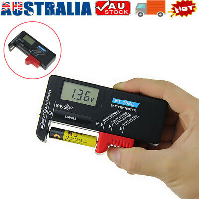 AU9.99 • Buy LCD Universal Battery Tester Tool AA AAA C D 9V Button Cell Volt Tester Checker