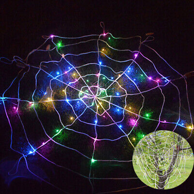 $ CDN9.28 • Buy LED Light Spider Halloween Props Decor Spider Web Haunted House Party Outdoor