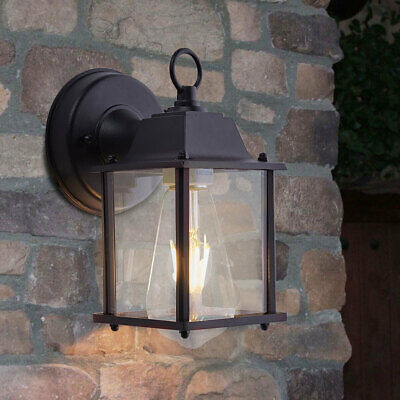 Traditional Vintage Outdoor Wall Light LED Garden Loft Lantern Lamp Lights Glass • 23.94£
