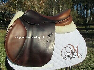 $ CDN3771.42 • Buy 17.5  CWD SE01 Close Contact Jumping Saddle- RARE 4L X-long Flaps-* ON TRIAL*