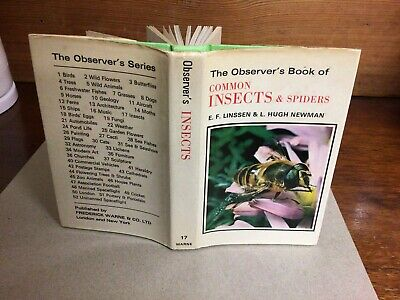 £9.99 • Buy Observers Book Of Common Insects & Spiders 1973: