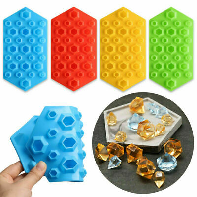 Whiskey Ice Cube Silicone Mould DIY Diamond Shape Crystals Gems Bar Candy Mould • 3.99£