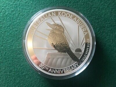 AU1495 • Buy 2020 Kookaburra 30th Anniverasry 1kg (kilo) .9999 Silver Coin From Perth Mint