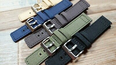 £12.99 • Buy  The Blank Canvas  Quick Release Canvas Watch Strap. Various Colors And Sizes.