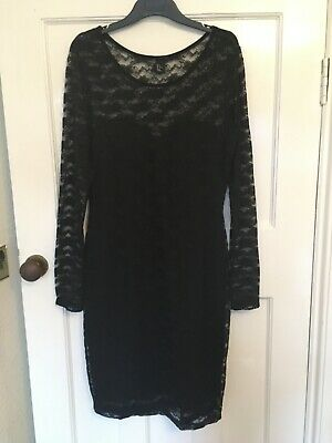 Brand New Without Tags H&M Black Straight Lace Dress Size Medium • 5£