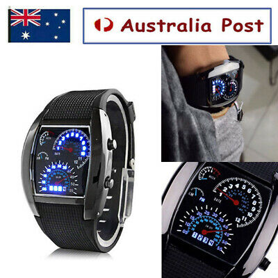 AU11.99 • Buy Mens Digital Sport Wrist Watch Analog Quartz Stainless Steel Alarm Date Watch