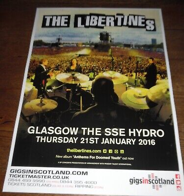 The Libertines - Live Music Show Jan 2016 Promotional Tour Concert Gig Poster • 4.99£