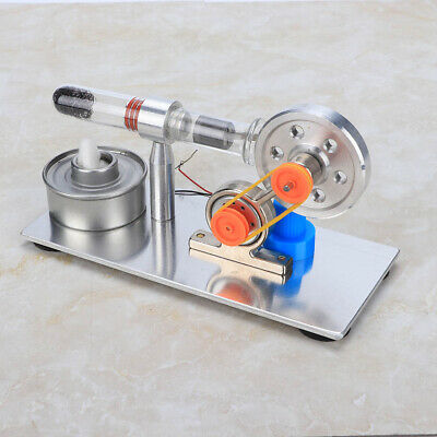 Single Cylinder Sterling Engine Model Steam Power Physics Teaching Tool Kit • 16.80£