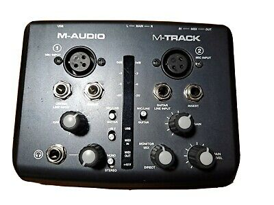 $82 • Buy M-Audio M-Track Two Channel USB Audio Interface