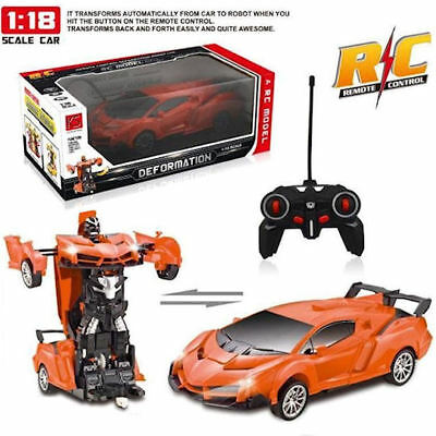 AU25.16 • Buy Toys For Boys Age 3 4 5 6 7 8 9 Year Old Kid Transformers Robot Car Remote+Sound